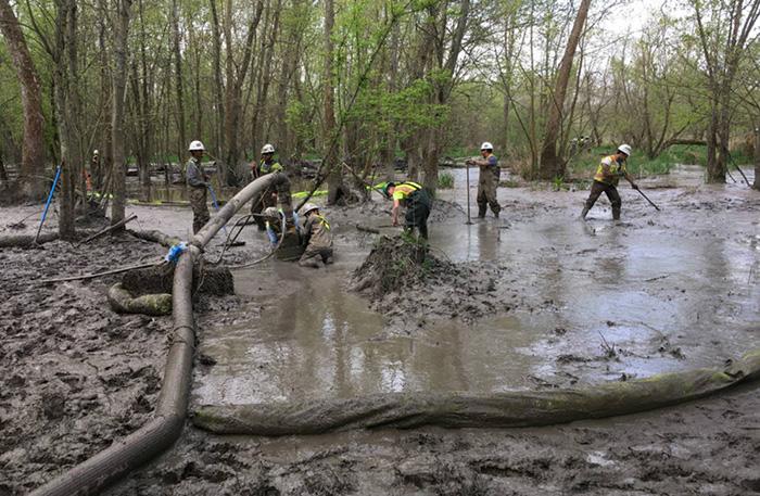 Massive several million gallon HDD spill in Ohio © Ohio EPA