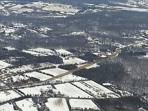 Natural Gas Pipeline thermal impacts melt snow an heat soils