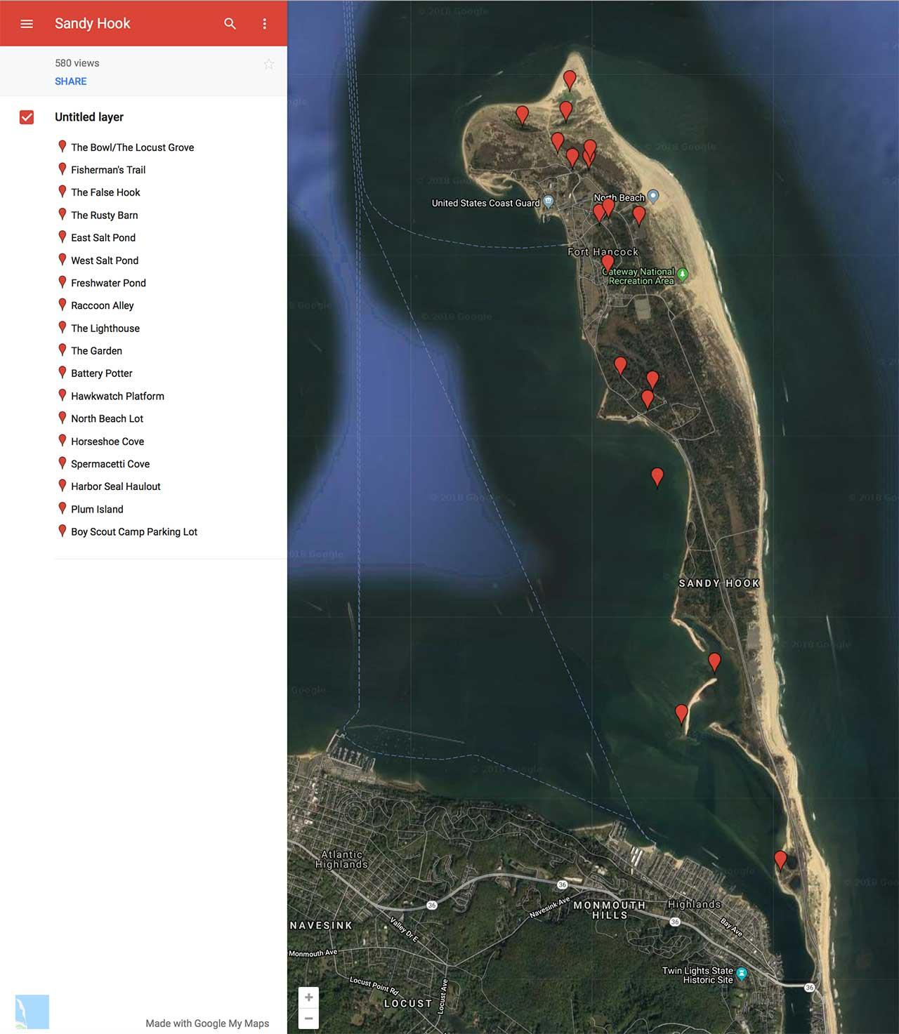 Washington Map Society.Sandy Hook Birding Washington Crossing Audubon Society Website